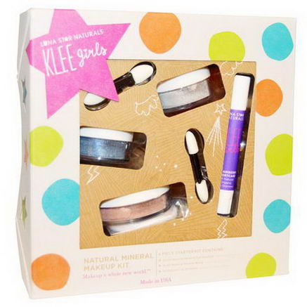 Luna Star Naturals, Klee Girls, Natural Mineral Makeup Kit, Shining Through, 4 Piece Kit