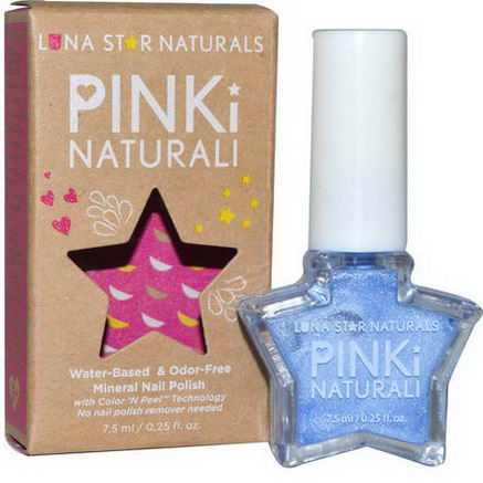 Luna Star Naturals, Pinki Naturali, Mineral Nail Polish, Little Rock, 0.25 fl oz (7.5 ml)