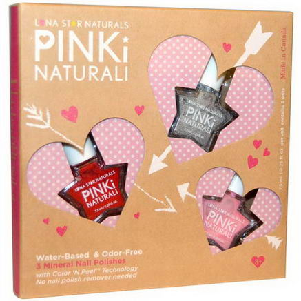 Luna Star Naturals, Pinki Nautrali, Joyful Heart Beats, 3 Mineral Nail Polishes, 0.25 fl oz (7.5 ml) Each