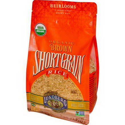 Lundberg, Organic Brown Short Grain Rice, 32oz (907g)