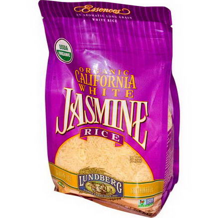 Lundberg, Organic, California White Jasmine Rice, 32oz (907g)