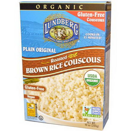 Lundberg, Organic, Roasted Brown Rice Couscous, Plain Original, 10oz (284g)