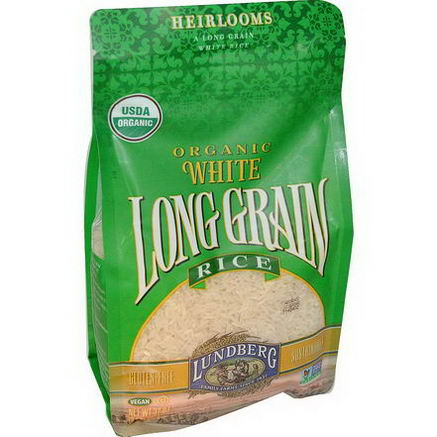 Lundberg, Organic, White Long Grain Rice, 32oz (907g)
