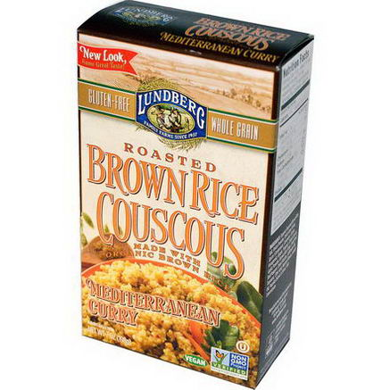 Lundberg, Roasted Brown Rice Couscous, Mediterranean Curry, 7oz (198g)