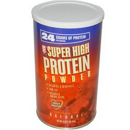 MLO Natural, Super High Protein Powder, 16oz (454g)