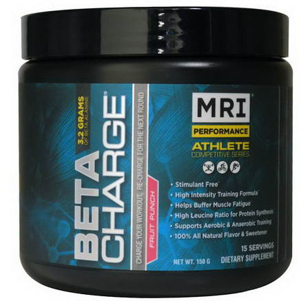 MRI, Beta Charge, High Intensity Training Optimizer, Fruit Punch, 15 Servings (150g)