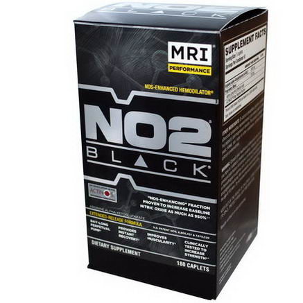 MRI, NO2, Black, NOS - Enhanced Hemodilator, 180 Caplets