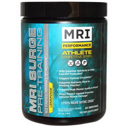 MRI, Surge Pre-Training, Lemonade, 240g