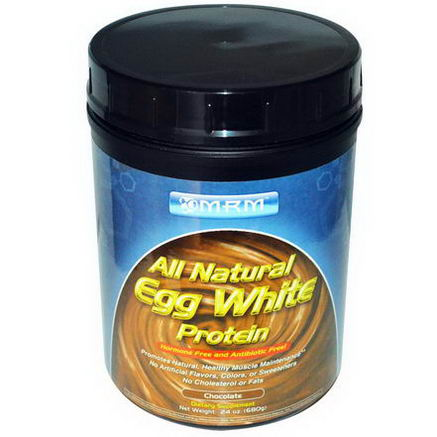 MRM, All Natural Egg White Protein, Chocolate, 24oz (680g)