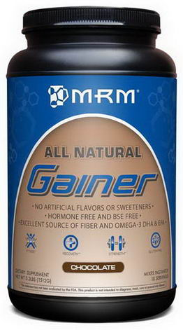 MRM, All Natural, Gainer, Chocolate, 3.3 lbs. (1512g)