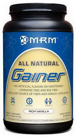MRM, All Natural, Gainer, Rich Vanilla, 3.3 lbs (1512g)