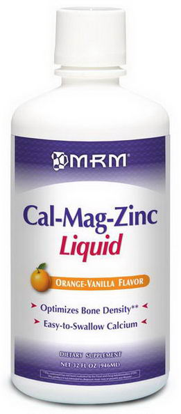 MRM, Cal-Mag Zinc Liquid, Orange-Vanilla Flavor, 32 fl oz (946 ml)