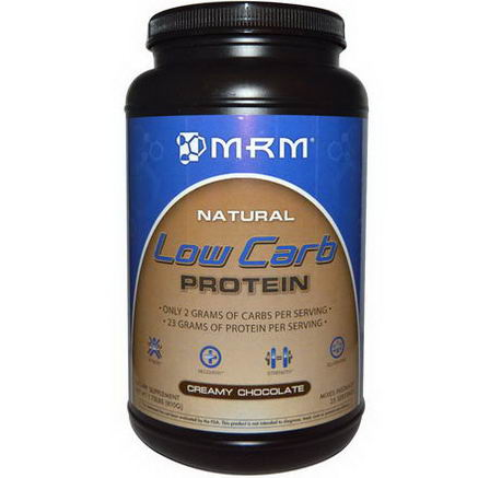 MRM, Low Carb Protein, Creamy Chocolate, 1.78 lbs (810g)
