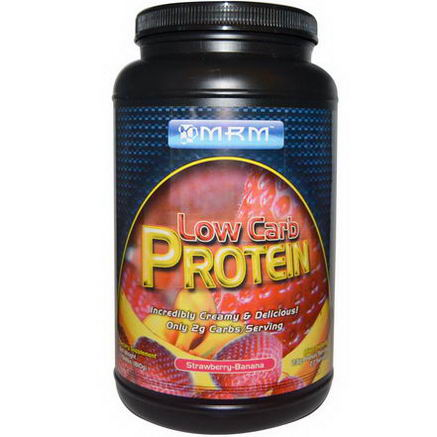 MRM, Low Carb Protein, Strawberry-Banana, 1.784 lbs (810g)