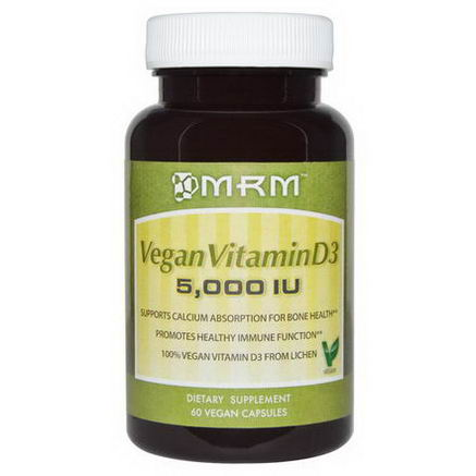 MRM, Vegan Vitamin D3, 5, 000 IU, 60 Vegan Caps