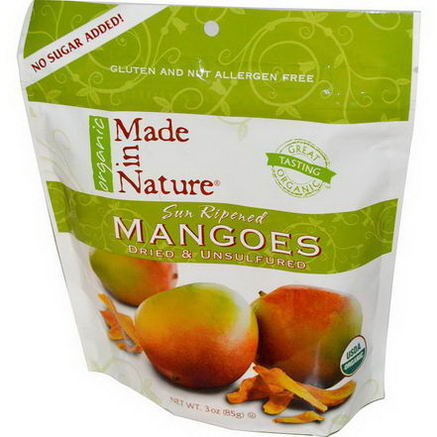Made in Nature, Organic Mangos, Dried & Unsulfured, 3oz (85g)