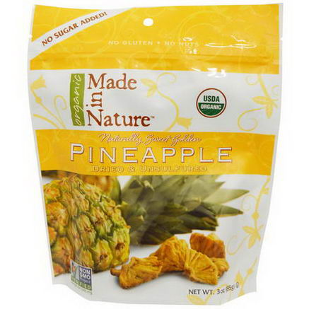 Made in Nature, Organic Pineapple, 3oz (85g)