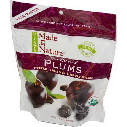 Made in Nature, Organic Plums, 6oz (170g)