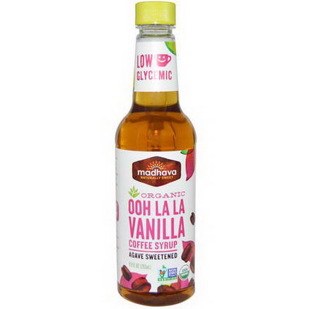 Madhava Natural Sweeteners, Organic Ooh La La Vanilla Coffee Syrup, 9.9 fl oz (293 ml)
