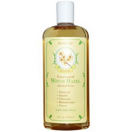 Madre Labs, Witch Hazel Toner, Unscented, Alcohol-Free, 12 fl oz (355 ml)