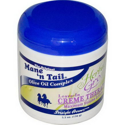Mane 'n Tail, Herbal Gro, Leave-In Creme Therapy, 5.5oz (156g)
