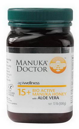 Manuka Doctor, Apiwellness, 15+ Bio Active Manuka Honey with Aloe Vera, 1.1 lb (500g)