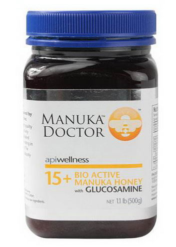 Manuka Doctor, Apiwellness, 15+ Bio Active Manuka Honey with Glucosamine, 1.1 lb (500g)