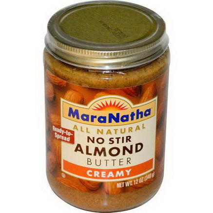 MaraNatha, No Stir Almond Butter, Creamy, 12oz (340g)
