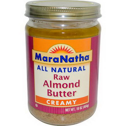 MaraNatha, Raw Almond Butter, Creamy, 16oz (454g)