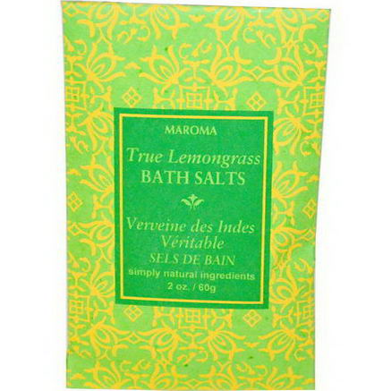 Maroma, Bath Salts, True Lemongrass, 2oz (60g)