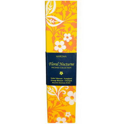 Maroma, Incense Collection, Floral Nocturne, 20 Sticks with Holder