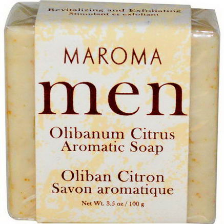 Maroma, Men, Aromatic Soap, Olibanum Citrus, 3.5oz (100g)