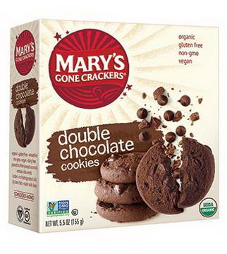Mary's Gone Crackers, Double Chocolate Cookies, 5.5oz (155g)