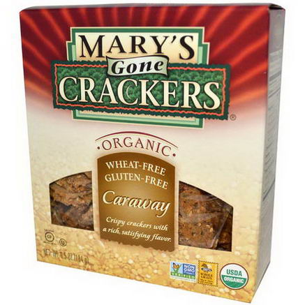 Mary's Gone Crackers, Organic Crispy Crackers, Caraway, 6.5oz (184g)