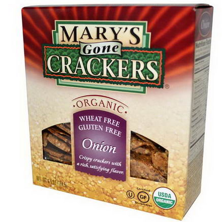 Mary's Gone Crackers, Organic Crispy Crackers, Onions, 6.5oz (184g)