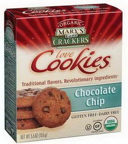 Mary's Gone Crackers, Organic, Gluten-Free, Chocolate Chip Cookies, 5.5oz (155g)