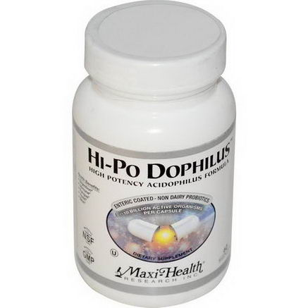 Maxi Health Research, Hi-Po Dophilus, High Potency Acidophilus Formula, 60 MaxiCaps