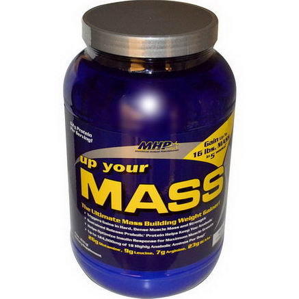 Maximum Human Performance, LLC, Up Your Mass, Vanilla, 2 lbs (931g)