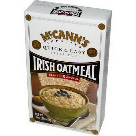 McCann's Irish Oatmeal, Quick & Easy, Steel Cut Oats, 16oz (454g)