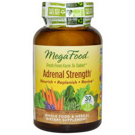MegaFood, Adrenal Strength, 30 Tablets