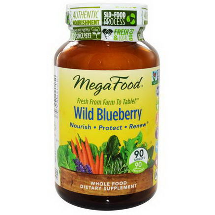 MegaFood, Wild Blueberry, 90 Tablets