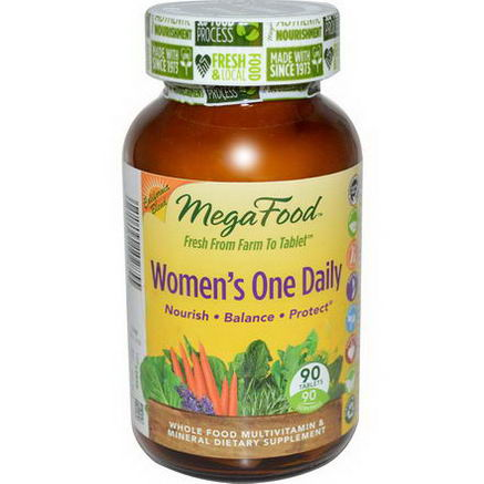 MegaFood, Women's One Daily, Whole Food Multivitamin & Mineral, 90 Tablets