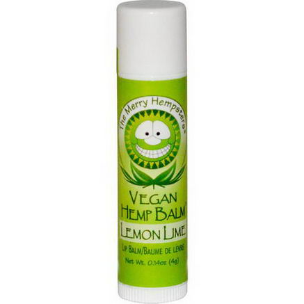 Merry Hempsters, Vegan Hemp Balm, Lip Balm, Lemon-Lime, 0.14oz (4g)