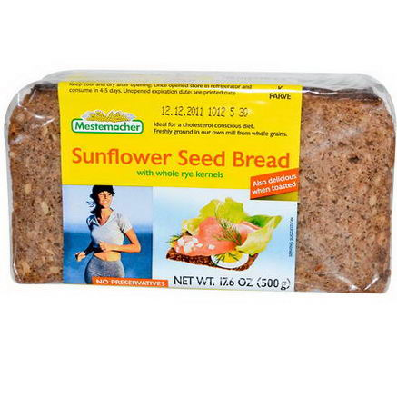 Mestemacher, Sunflower Seed Bread with Whole Rye Kernels, 17.6oz (500g)