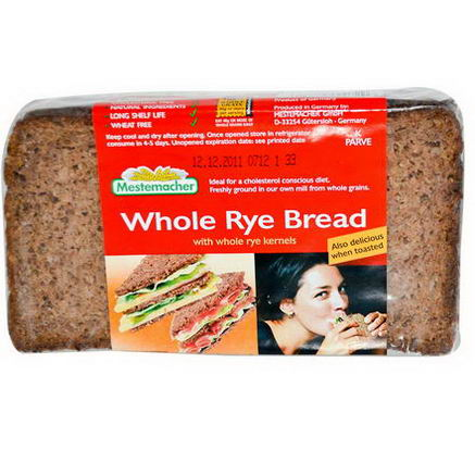 Mestemacher, Whole Rye Bread, 17.6oz (500g)
