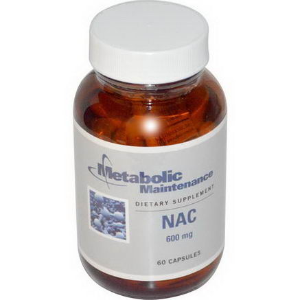 Metabolic Maintenance, NAC, 600mg, 60 Capsules