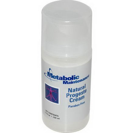 Metabolic Maintenance, Natural Progeste Cream, 3.5 fl oz (100 ml)