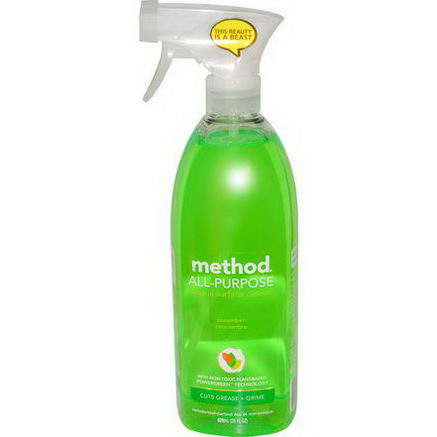 Method, All-Purpose Natural Surface Cleaner, Cucumber, 28 fl oz (828 ml)