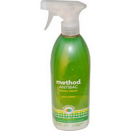 Method, Antibac, Kitchen Cleaner, Lemon Verbena, 28 fl oz (828 ml)