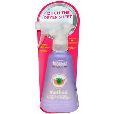 Method, Dryer-Activated Fabric Softener, Lavender Lilac, 12.2 fl oz (360 ml)